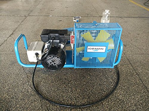 IORMAN Original 110v 60hz Electric Air Compressor 30mpa 4500psi High Pressure Air Respirator Inflatable Pump for Scuba SCBA PCP Paintball Tanks Filling