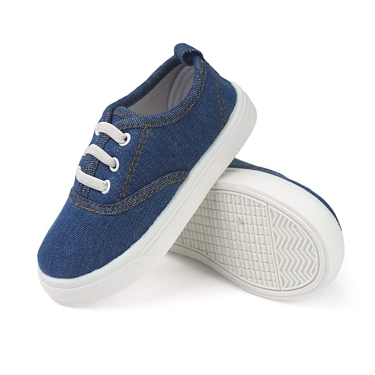 Toddler Canvas Sneaker Slip-On Soft Sole Little Kids Boys Girls Outdoor Tennis Walking Shoes