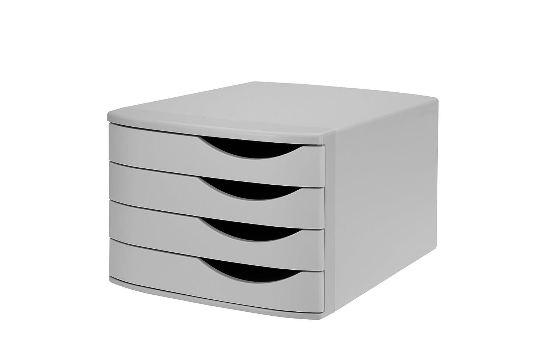 Jalema 2686374307 Re-Solution Schubladenbox, 4 geschlossene Schübe, grau 4 geschlossene Schübe