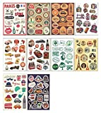 10 PCS Fixed Gear Bicycle Sticker Bikes Decorations Suitcase Sticker-A