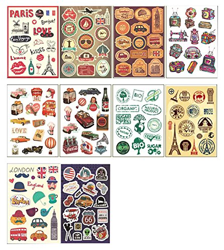 10 PCS Fixed Gear Bicycle Sticker Bikes Decorations Suitcase Sticker-A by George Jimmy