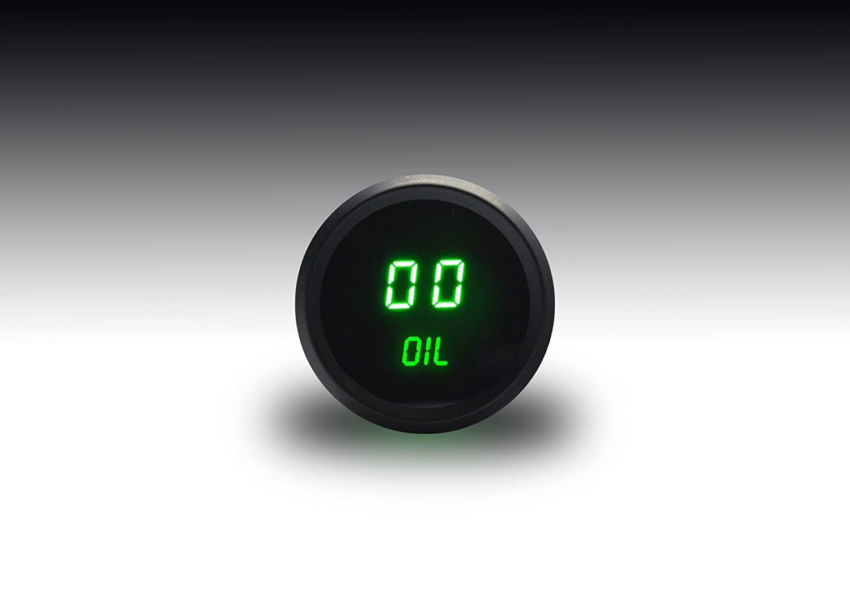 Intellitronix Green LED Digital Oil Pressure Gauge Intellitronix Corp. M9114gG