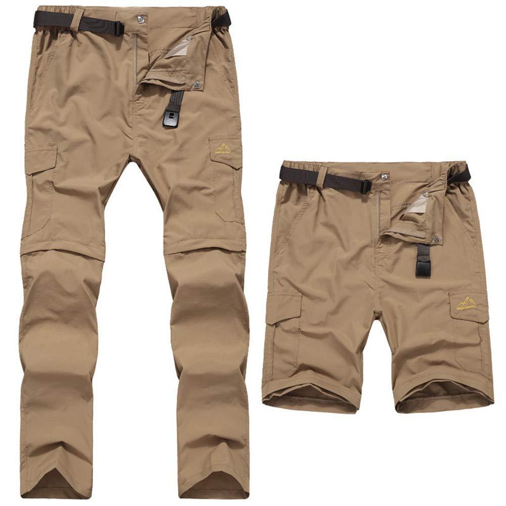 WYX Pantalon Homme, Séchage Rapide Pantalon De Randonnée Décontracté pour Hommes,3,L