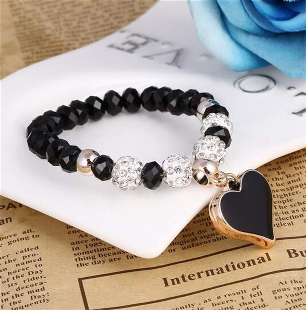 QWERST Bracelet Cordones Coloridos Charms Pulseras para Hombres Y Mujeres Colgante Corazón De Joyería Pulseras B