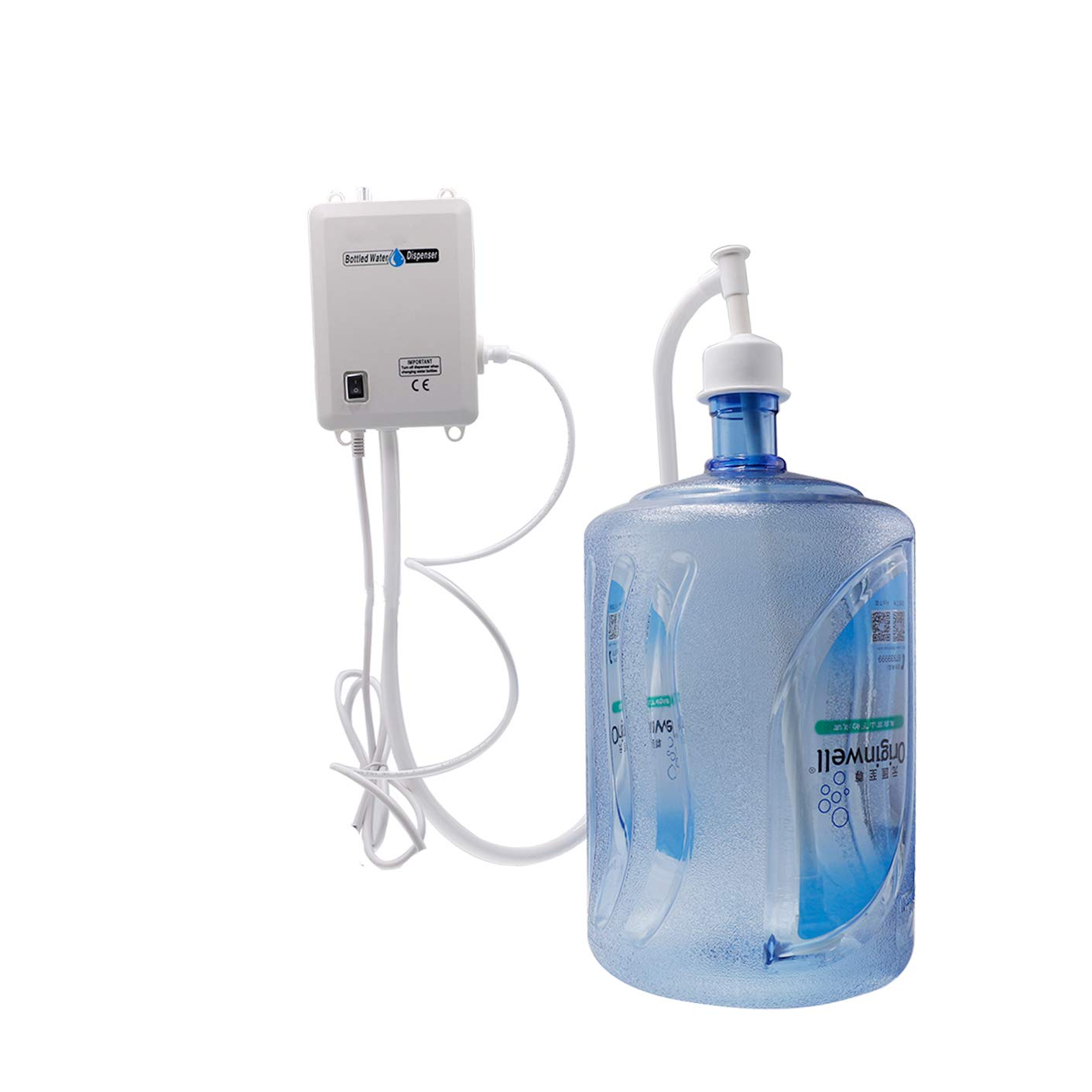 Bottled Water System Water Pump Bottle Water Electric Dispensing Pump System with Single Inlet 110V US Plug for Coffee Brewer Ice-Make (with speed control)