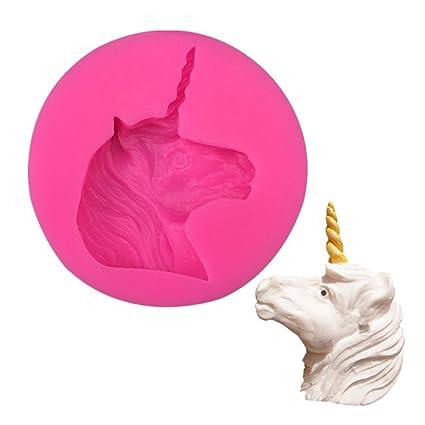 Navidad unicornio moldes para bombones, pastel, gelatina y hielo cubo moldes de silicona moldes