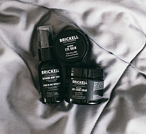 61YirvJMZLL - Brickell Men's Advanced Anti-Aging Routine, Night Face Cream, Vitamin C Facial Serum and Eye Cream, Natural and Organic, Scented