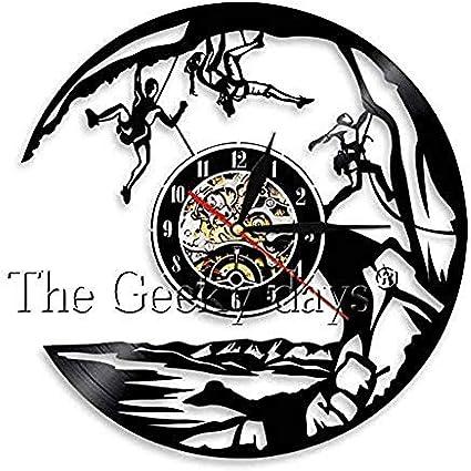 clockfc Reloj de Pared Reloj de Pared de Vinilo de Escalada ...