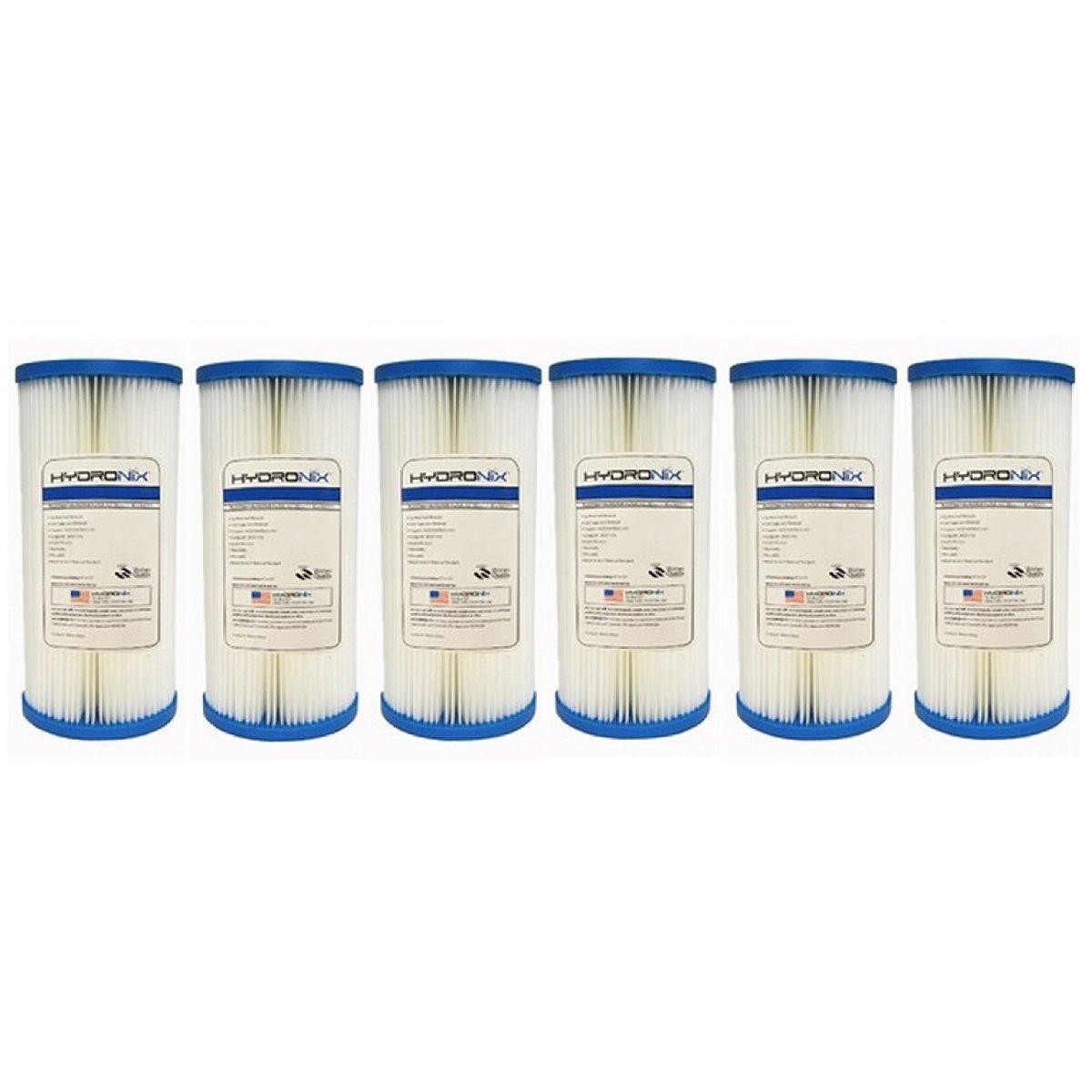Hydronix HYDRONIX_SPC_45_1005_6_PACK Pentek ECP5-BB 5 Micron Whole House Sediment Filter 6 Pack, Single Unit