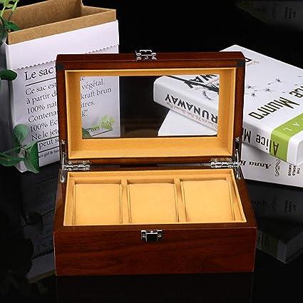 3 Compartimiento de Almacenamiento Caja de Reloj de la PU de Pantalla Caja de Regalo Caja de Reloj Paint Mirage: Amazon.es: Relojes