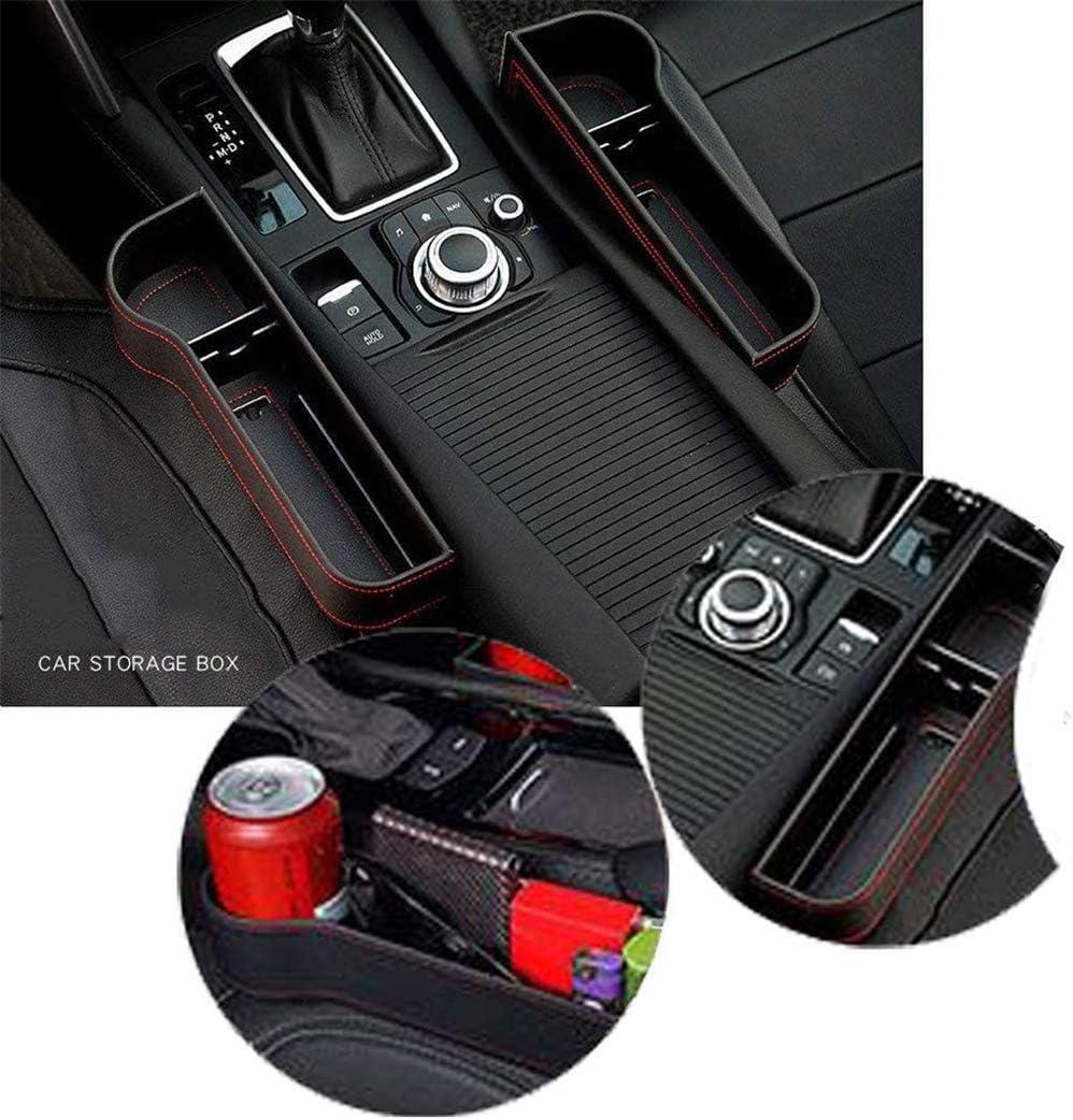 Sitzl/ückenf/üller mit Getr/änkehalter xxz Multifunktionaler Autositz-Organizer PU-Ledersitzkonsolen-Organizer-Tasche Aufbewahrungsbox f/ür Autositzabst/ände 2er-Pack