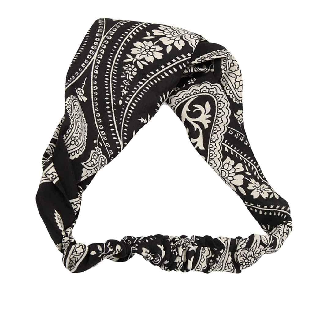 busirde Las Mujeres cruzaron Widen GILR impresi/ón Floral de la Venda de Headwrap del sat/én Hairband Headwear Precioso Lazo del Pelo del aro 1#
