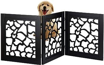Amazon.com: Bundaloo Pet Gate | Valla de madera expandible y ...