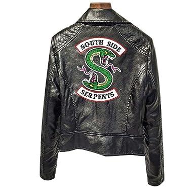 XXW Riverdale PU Chaquetas De Cuero Mujeres Southside Serpents Moto Biker Abrigo Cosplay
