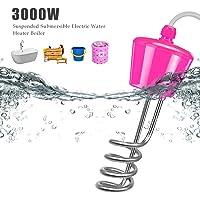 Calentador de agua eléctrico de piscina totalmente sumergible 3500W - Caldera de calentador de agua eléctrica de inmersión suspendida para piscina de bañera inflable | Calentador de agua del cubo