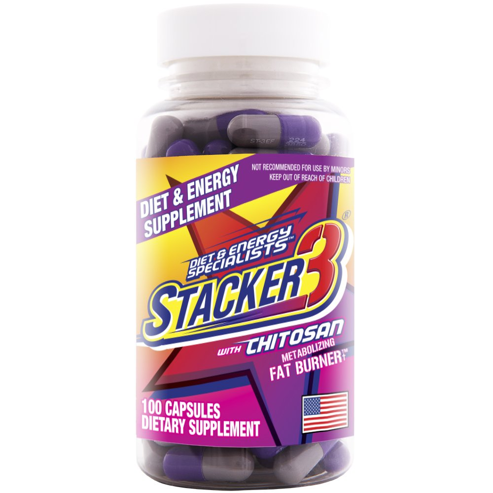 Stacker 3 Metabolizing Fat Burner with Chitosan, Capsules, 100-Count Bottle by Stacker