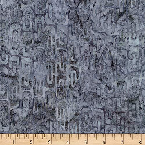 Robert Kaufman Artisan Batiks Helsinki 2 Links Grey Fabric Fabric by the Yard