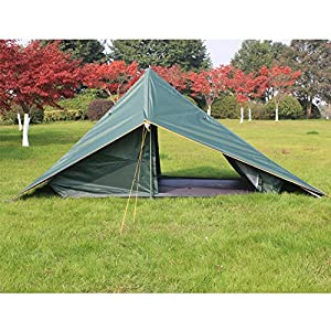 C&land C&ing A-Shaped Tent with a big Awning Double Protection for C&ing Fishing BBQ Parties Backpacking  sc 1 st  Amazon.com & Amazon.com : Campland Camping A-Shaped Tent with a big Awning ...