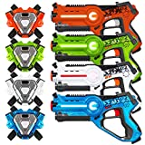 Best Choice Products Set of 4 Kids Laser Tag Blasters w/ Vests, Multiplayer Mode - Multi