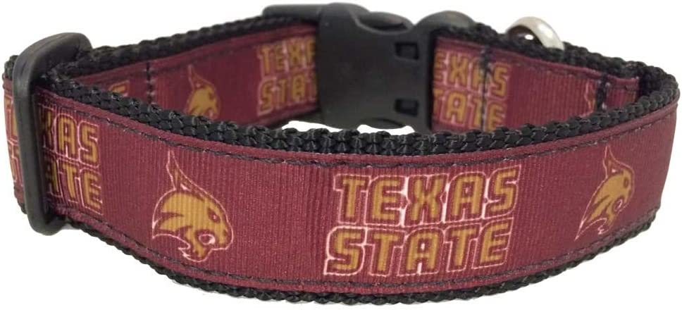 All Star Dogs NCAA Texas State Bobcats Dog Collar
