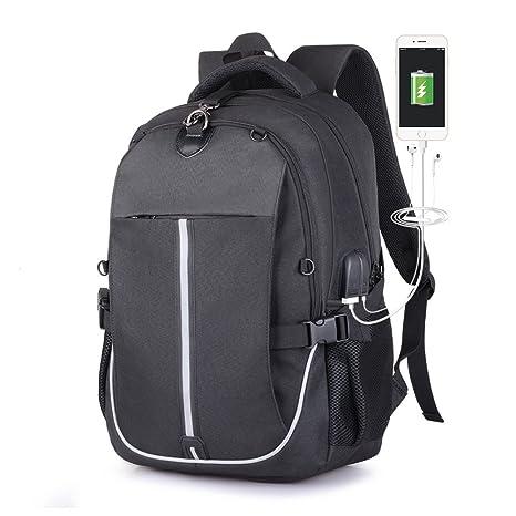 MRSLIU Mochila para Laptop -15.6 Pulgadas Mochila Universitaria Bolsa De Viaje Liviana para Hombres Mujeres