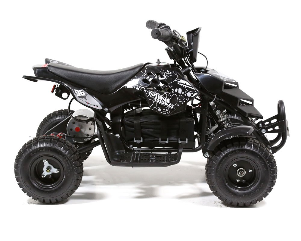 Funbikes 800w Electric Kids Mini Quad Bike Moto Atv Ride On 2003 Kawasaki 250 Bayou Wiring Schematics Toy Boys Girls Black Toys Games