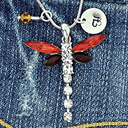 Sparkling Crystal Block Ring Chandelier: Amazon.com: Personalized Dragonfly Red Pendant Sparkling