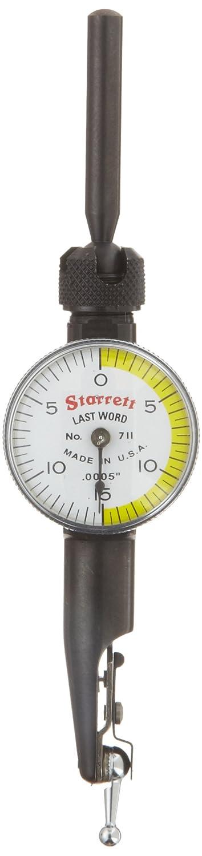 Starrett 711lpsz letzte Wort Zifferblatt Test Indikator mit Anh/änge 0/Lesen 15 0,1/cm Reihe wei/ßes Zifferblatt 0/cm Graduation