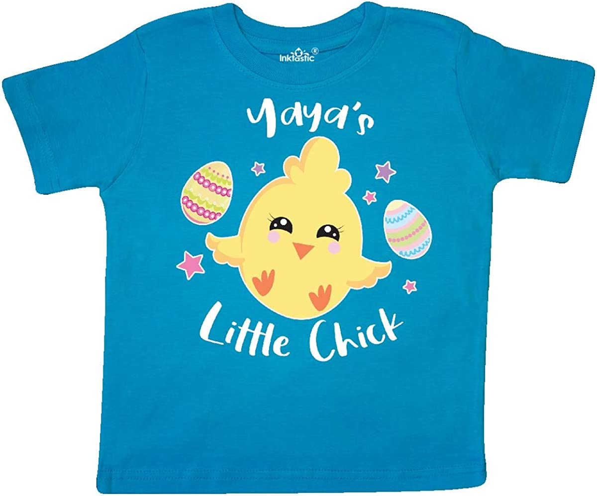 inktastic Happy Easter Yayas Little Chick Toddler T-Shirt