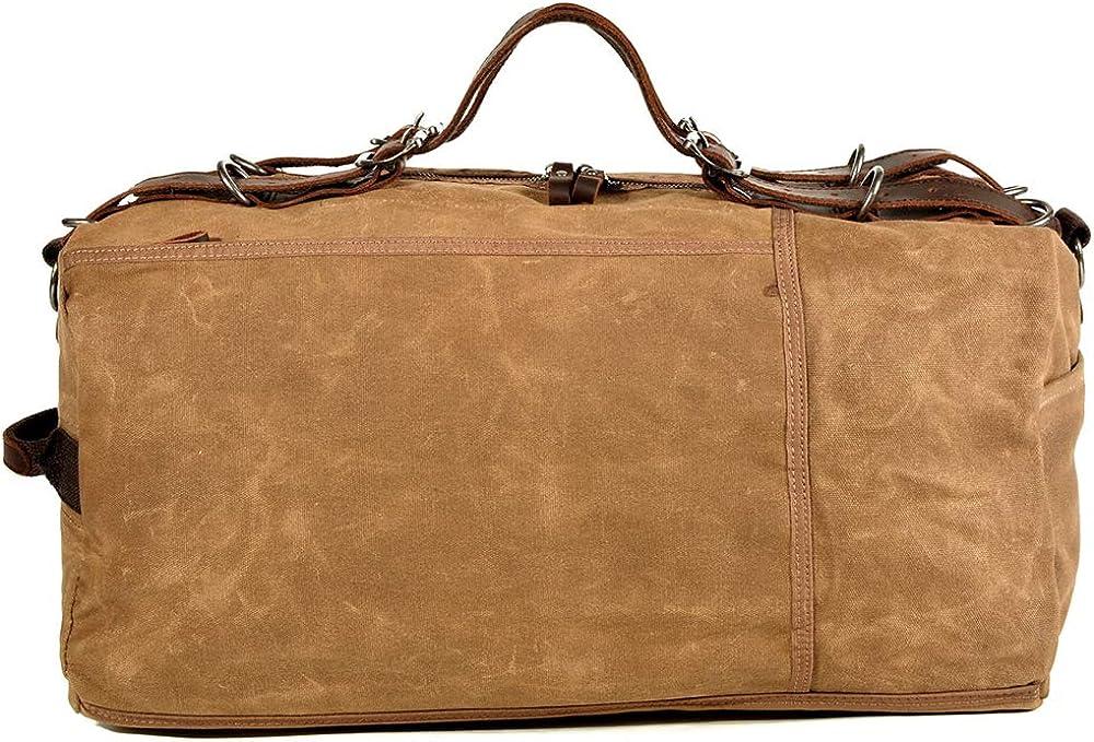 ZWQKSLAE Sac à bandoulière en cuir véritable pour hommes Sac à bandoulière Messenger Casual pour sac à main Bourse Voyage au travail Kaki