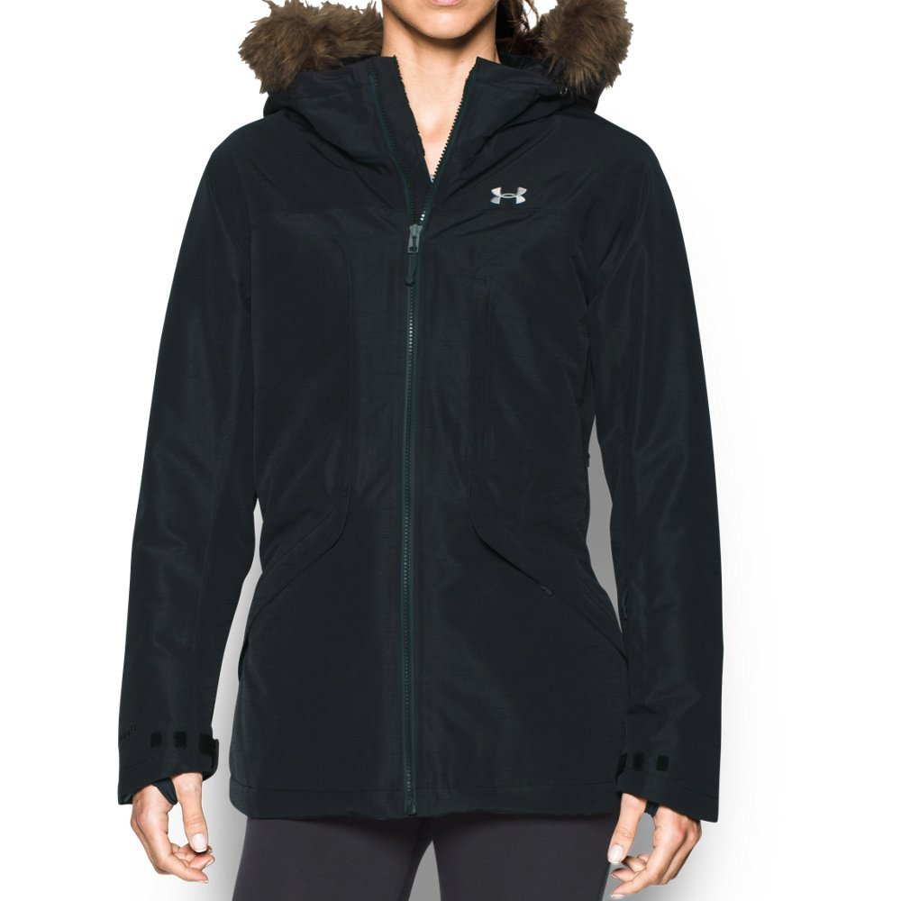 Under Armor Women's ColdGear Infrared Kymera Jacket, Black/Stealth Gray, Large