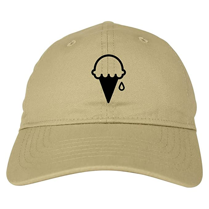 8bbb6f8ce37 Kings Of NY Ice Cream Cone Scoop 6 Panel Dad Hat Cap Beige at Amazon ...