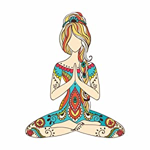 "Yoga Girl Art Design Full Color - 5"" Vinyl Decal for Car, Macbook, or Other Laptop"