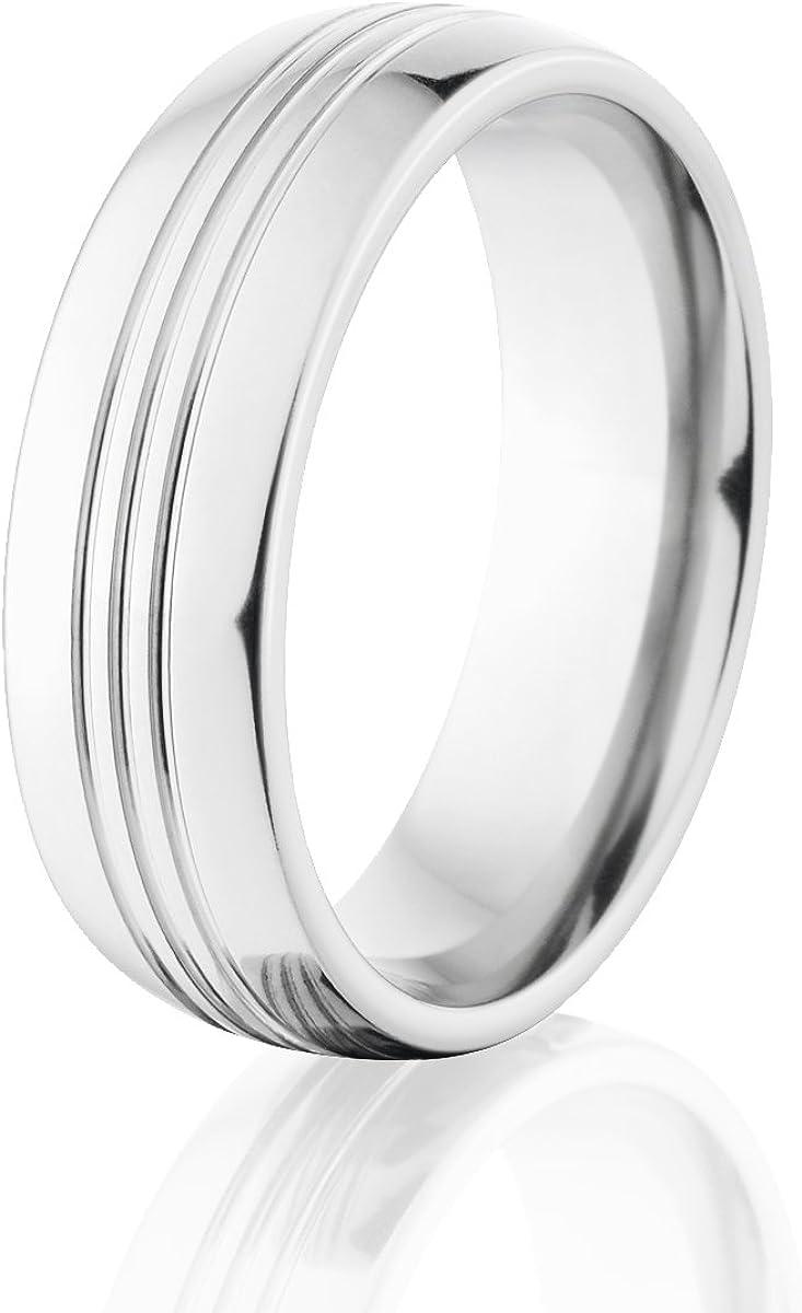 Cobalt Wedding Bands for Men Comfort Fit Ring USA Made Cobalt Rings