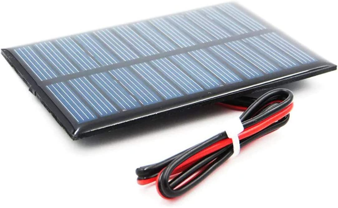 WEIJ 60mm x 90mm 5V 150mA Poly Mini Solar Cell Panel Module with 30cm Cable DIY for Charger