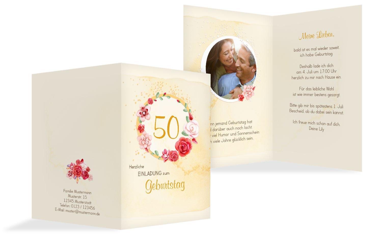 Geburtstagseinladung Aquarell Rosan 50 Foto, 20 Karten, RosaRosa B073D1RBD7 | Diversified In Packaging  |  Neuer Markt  | Sale Düsseldorf
