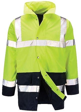 29901d1ff8 REAL LIFE FASHION LTD Mens Hi Viz Vis 2 Tone Work Wear Jacket Boys Long  Sleeves