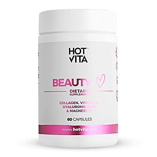 Hot Vita Beauty Supplement Pills – Anti-Aging Supplement Treatment for Hair Loss, Skin, and Nails with Collagen, Biotin, Magnesium, Vitamin C and ...