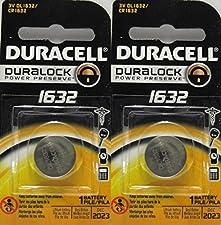 3 X 2 Duracell Cr1632 1632 Car Remote Batteries