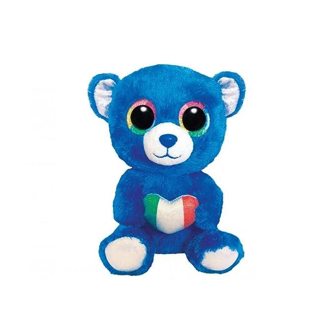 TY BEANIE BOOS 15cm ROMEO ITALIA OSO azul idea regalo peluche marioneta VX317