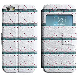 LEOCASE mariposa de color rosa Funda Carcasa Cuero Tapa Case Para Apple iPhone 5 / 5S No.1003622