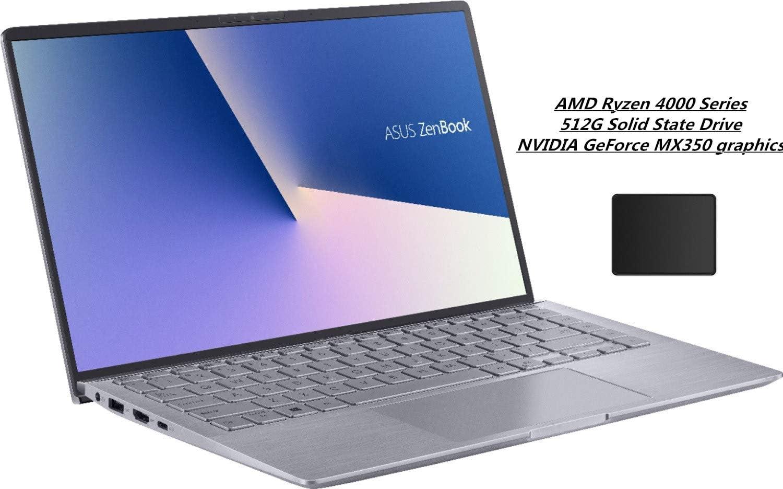 "ASUS ZenBook 14"" Full HD Widescreen LED Display Laptop Bundle Woov Mouse Pad   AMD Ryzen 5 4500U   8GB RAM   512GB PCIe SSD   NVIDIA GeForce MX350   Backlit Keyboard   Windows 10   Light Gray"