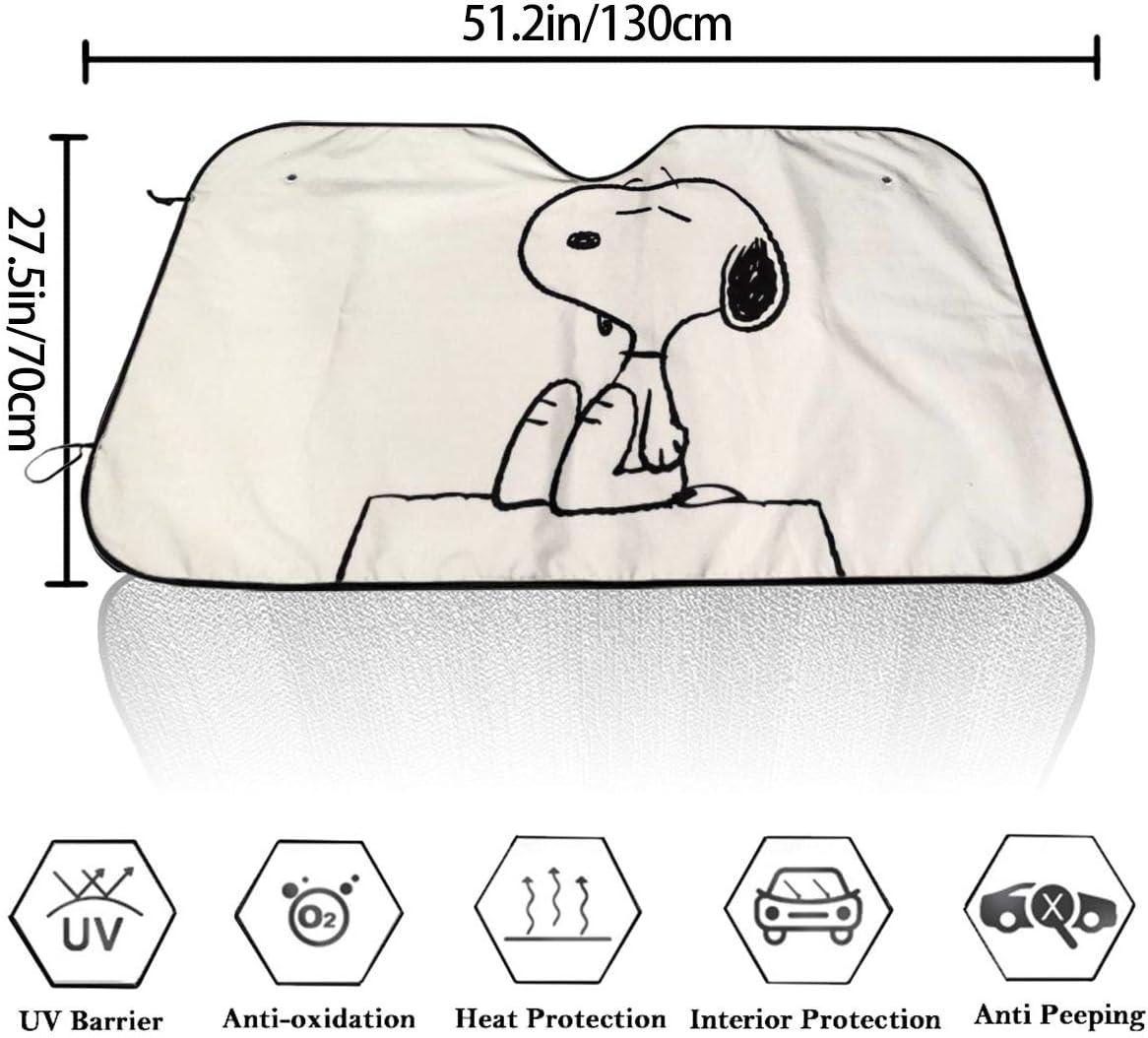 ZXHGLL Original Snoopy Parasol para Coche Protector de Parabrisas para Mantener el veh/ículo Fresco y f/ácil de Bloquear los Rayos UV Parasol para Parabrisas Delantero de Coche