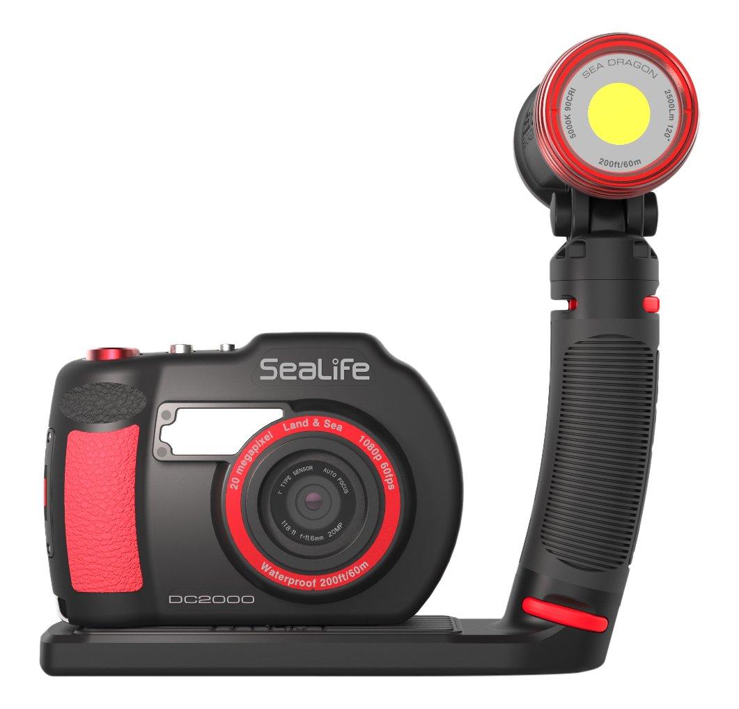 SeaLife DC2000 HD Underwater Digital Camera with Sea Dragon 2500 LED Light Set by SeaLife