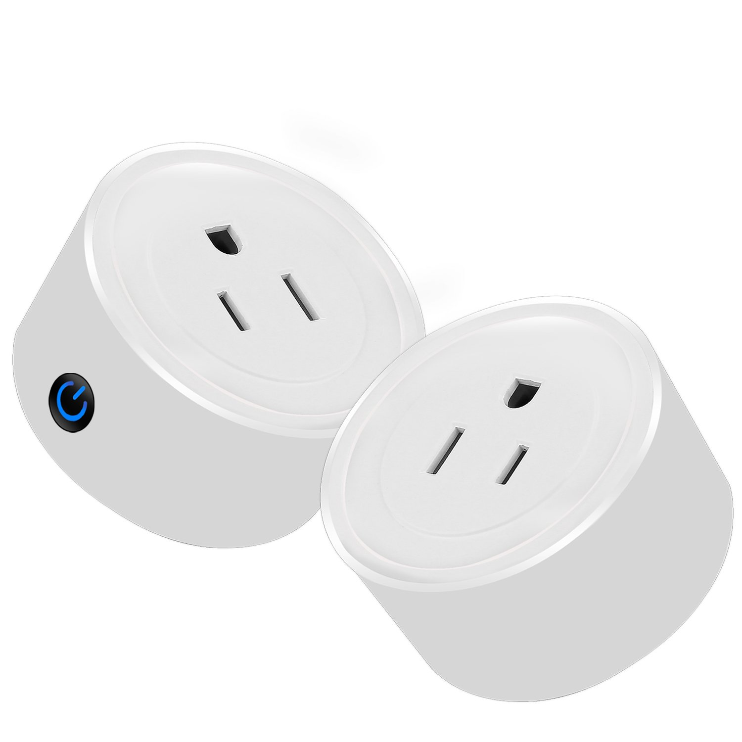 Martin Jerry mini Smart Plug Compatible with Alexa, Smart Home Devices Works with Google Home, No Hub required, Easy installation and App control Smart Switch On / Off / Timing (Model: V01) (2 Pack)