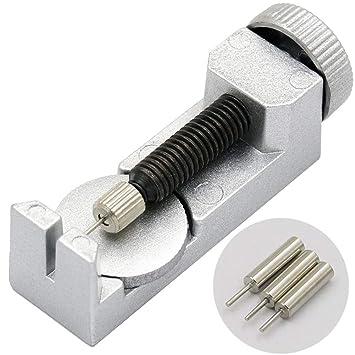 SWED72 Kit de Herramientas para Quitar eslabones de Reloj con 3 Pines Extra para Correa de