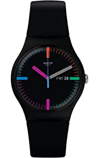 Swatch Womens Originals SUOB719 Black Silicone Swiss Quartz Watch