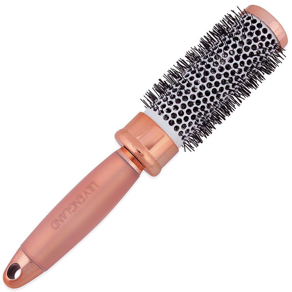 Lily England Cepillo de Pelo Cilíndrico Redondo para Cabello Oro Rosa: Amazon.es: Belleza