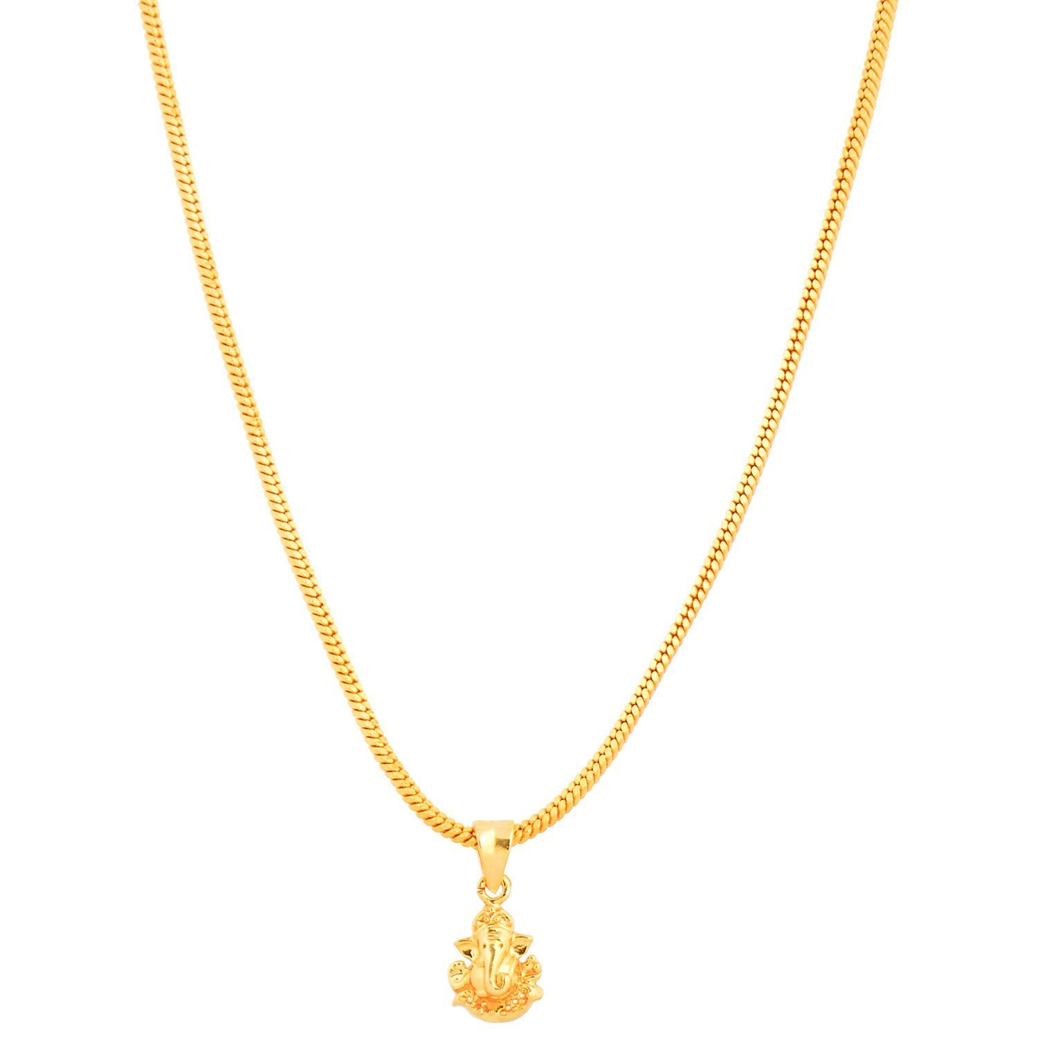 gold dipped dogeared charm good necklace pendant elephant chain luck on