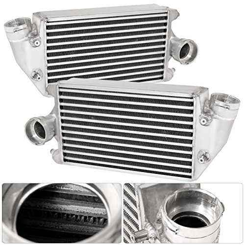 Porsche 996 997 911 GT2 3.6L Twin Turbocharge Aluminum Side Mount Intercooler SMIC Direct Bolt On Replacement